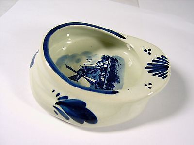 Blue and white sailor cap trinket dish hand painted ornament