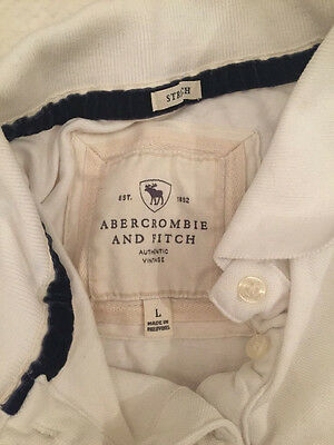 women's Extra Small size 6/8 ABERCROMBIE AND FITCH white polo t shirt