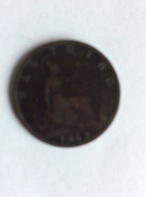 1862 Young Head Victorian Farthing