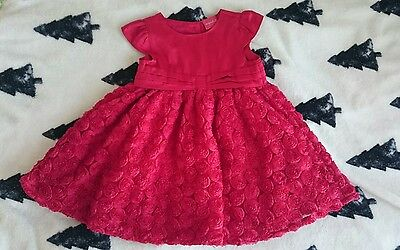 Boots Mini Club baby girl RED CHRISTMAS dress 6-9 months