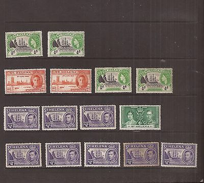 St Helena 15 Stamps Mh