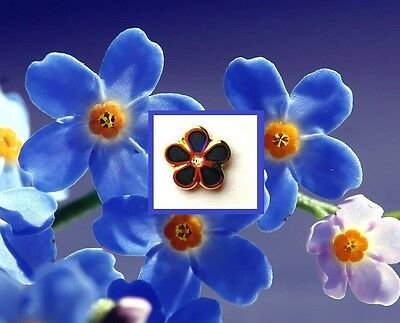 "MASONIC Flower ""Forget Me Not"" with Gem Stone  FREEMASON Lapel PIN hat (READ)"