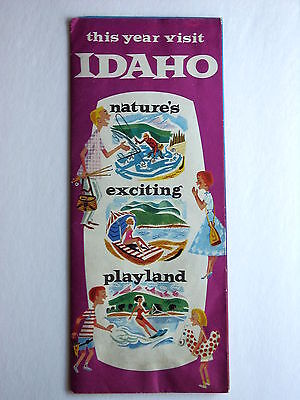 IDAHO Vintage Travel / Tourist Brochure This Year Visit IDAHO 66 places to see