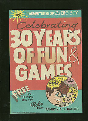 Adventures of the Big Boy Bob's 360 comic NM 1980's NICE CONDITION!