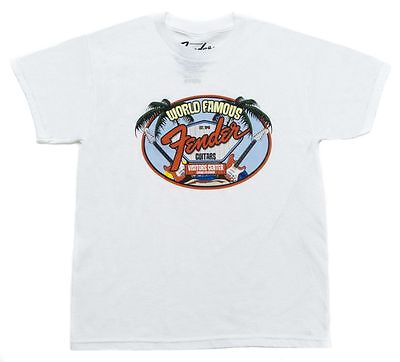 Fender World Famous Visitor's Center Youth T-Shirt, weiss, 9 - 10 Jahre