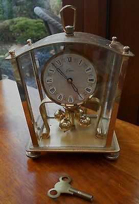Vintage Mantel Clock Made By Kern In West Germany - Solid Brass - Needs Some Att