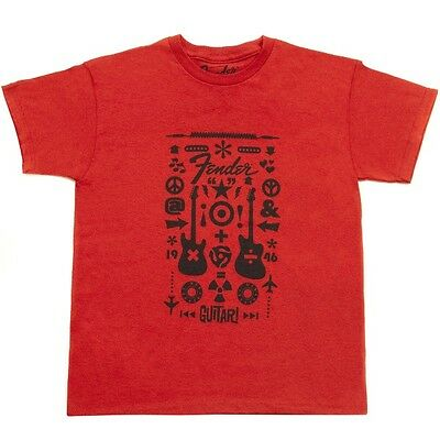 Fender Guitar Formula Youth T-Shirt, limitiert, rot, M