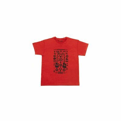 Fender Guitar Formula Youth T-Shirt, limitiert, rot, XL