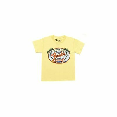 Fender World Famous Visitor's Center Youth T-Shirt, gelb, 4 Jahre