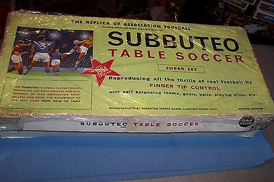 Subbuteo Table Football Vintage Flat 1964 Plus Referee 2 Linesmen And Paperwork