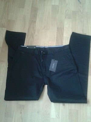 Zara mens black chino/trousers. Size:38. New with tags.