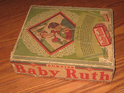 Early, Vintage 1929 Curtiss Baby Ruth 5 Cent Candy Bar Box