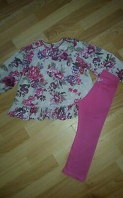 Stunning Girls Monsoon Top and Leggings Outfit size 2-3 Years