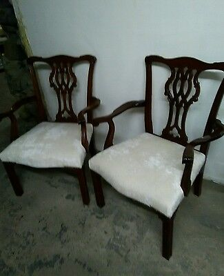 Pair of Vintage armchairs newly upholstered in a cream velvet