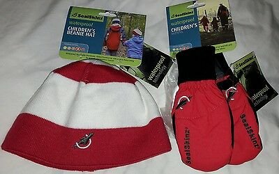 Sealskinz waterproof beanie hat and gloves for young girl - BNWT