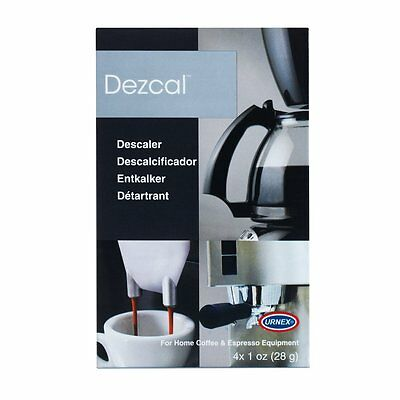 Urnex Dezcal Home 4 1-Ounce Packets Activated Descaler for Home Coffee and Espre