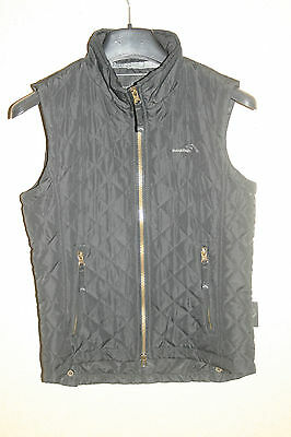 * Super girls/boys black quilted body warmer/gilet, Mountain Life, age 11-12