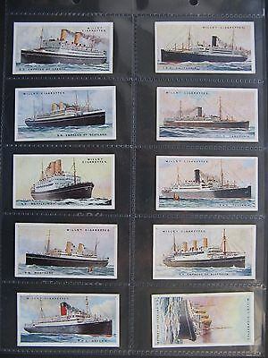 Cigarette Cards. Wills - Merchant Ships Of The World 1924. Set In Sleeves.