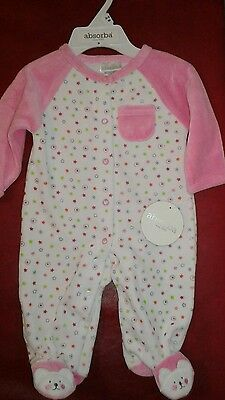 Absorba  Baby Girl Pajama, Size  0-3 Months.