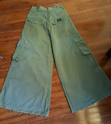 Authentic 90s Raver Pants Size 30 Caffeine Green