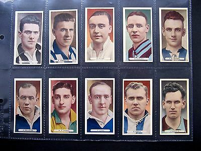 Cigarette Cards. Ardath - Famous Footballers 1934. Set In Sleeves.