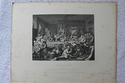 HOGARTH - 'THE ELECTION' (set of 4) - ANTIQUE STEEL ENGRAVING/ PRINT