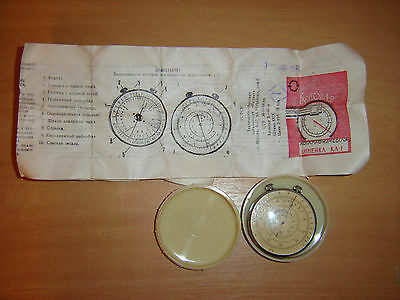 Vintage Soviet Ussr Russian Logarithmic Circular Round Slide Rule Two Side