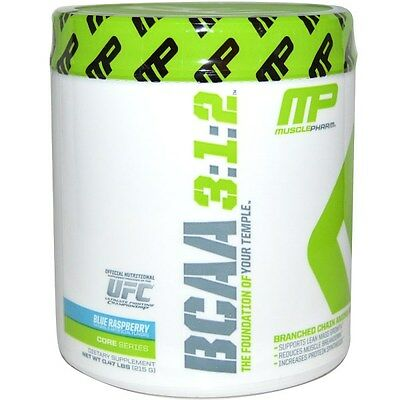 Muscle Pharm, BCAA 3:1:2, Blue Raspberry, 0.47 lbs (215 g)