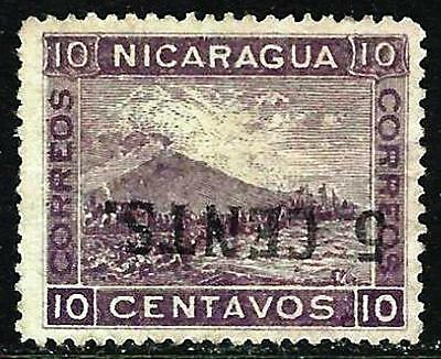 NICARAGUA Sc 178a 1905 INVERTED SURCHARGE MINT NG