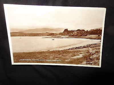 CAIRNSMORE & THE SHORE ROAD , CREETOWN: Kirkcudbrightshire postcard RP 1-C