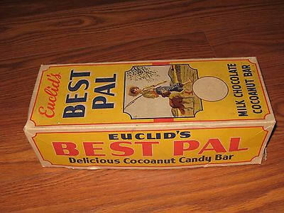 Early, Vintage---Euclid's Best Pal Candy Bar Box---