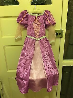 Disney Store Rapunzel Costume Age 5-6 And Wig
