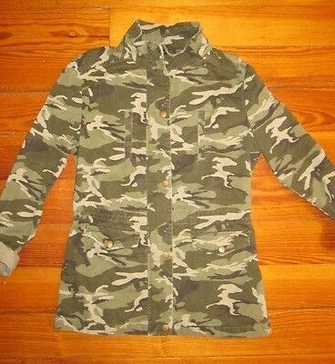 Girls NEW LOOK Khaki Cotton Military Style Camouflage Jacket, Age 14-15 Years