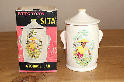 Ringtons 1950's Vintage  'sita' Storage Jar/tea Caddy