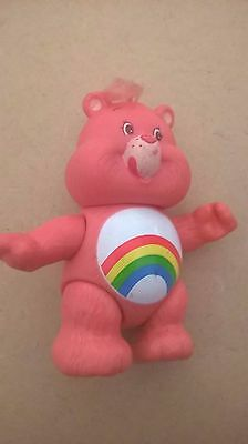 care bear cheer bear pink rainbow 80s toy poseable/posable vintage
