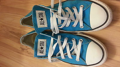 CONVERSE Chuck Taylor ALL STAR light blue low top SHOES M 8 W 10