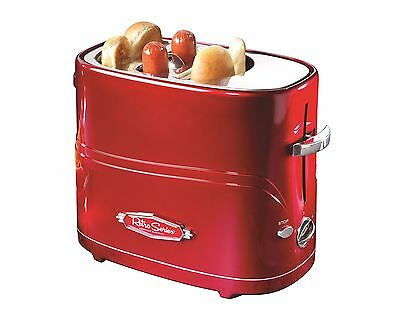 Nostalgia HDT600RETRORED Retro Hot Dog Pop-Up Toaster, Red