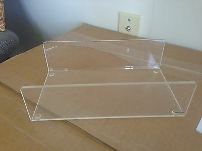 Clear Lucite Napkin Hand Towel Holder 5 X 8 3/4