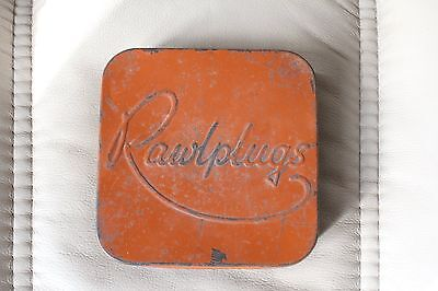 vintage rawlplugs tin and contents