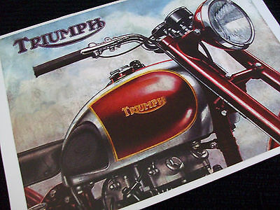 TRIUMPH 1947 MOTORCYCLE SALES BROCHURE 3T Deluxe, Tiger 100, Speeed Twin