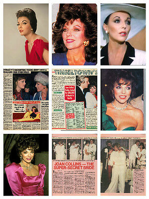 Joan Collins HUGE collection - 900 photos, clippings & magazine articles Dynasty
