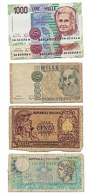 ITALY lot of 5 banknotes