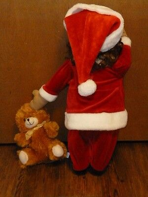 Time out doll  Joann   waiting for  Santa W/ her bear---African American