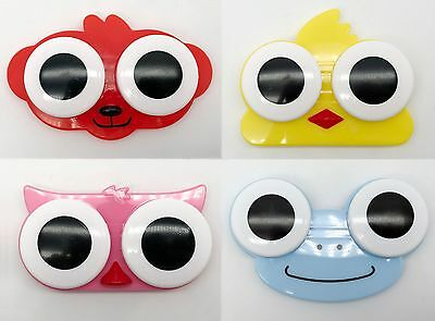 Cute Design Contact Lens Case Holder Novelty Animal toon FREE UK Compact unisex