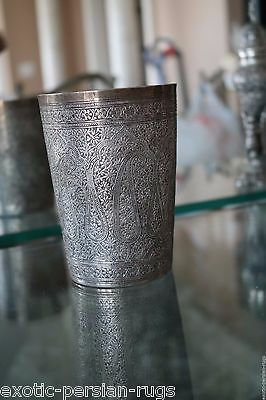 Beautiful Museum Piece Antique Qajar Solid Silver Cup