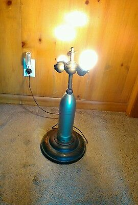 Vintage TRENCH ART ELECTRIC LAMP/SHELL DOUBLE SOCKET