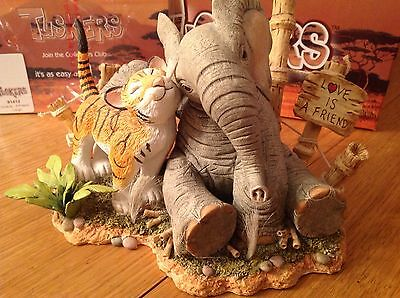 """Tuskers Elephant """"Love is a Friend"""" #91412 - LARGE - Boxed, Rare, Collectable"""