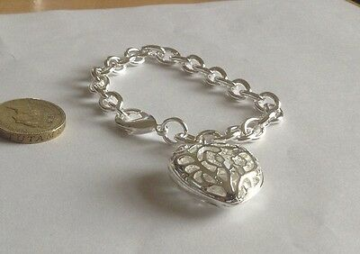 silver sterling 925 bracelet with pendant