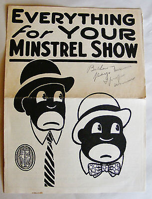 Everything For Your Minstrel Show by Walter Baker Co.  Play Shop 1920's Catalog