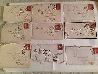 9 x QUEEN VICTORIA PENNY RED ENVELOPES